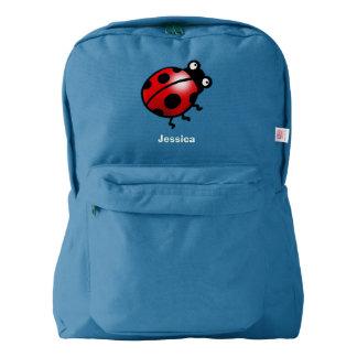 cute ladybug cartoon backpack