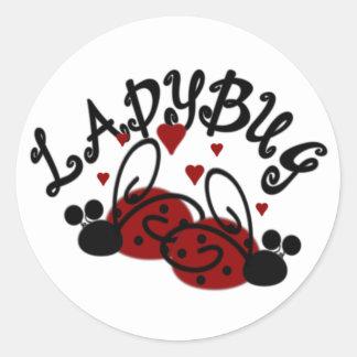 Cute Ladybug Classic Round Sticker