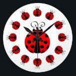 "Cute Ladybug Clock<br><div class=""desc"">Cute cartoon ladybug clock</div>"