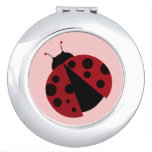 cute ladybug compact mirrors