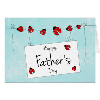 Cute Ladybug Design for Father's Day Card