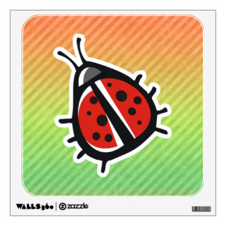 Cute Ladybug Design Wall Skin