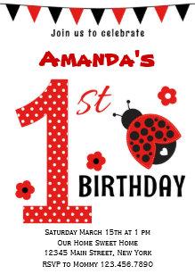 Ladybug 1st birthday invitations announcements zazzle cute ladybug first birthday invitation filmwisefo Gallery