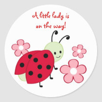 Cute Ladybug Flower Stickers Envelope Seals