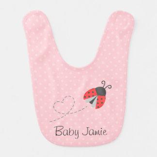 Cute Ladybug for Baby Girls Baby Bib