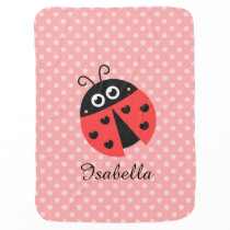 Cute Ladybug for Sweet Baby Girls Stroller Blanket