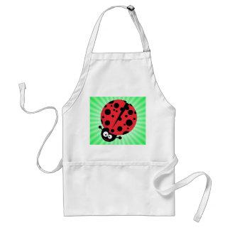 Cute Ladybug; Green Aprons
