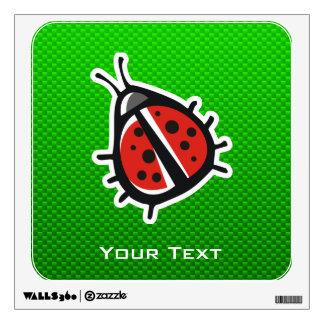 Cute Ladybug Green Room Graphics