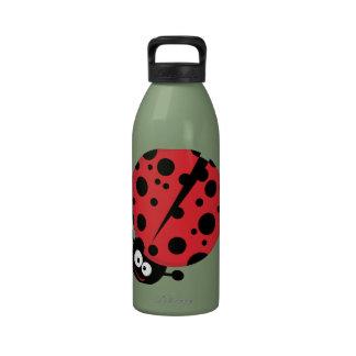 Cute Ladybug Green Drinking Bottle