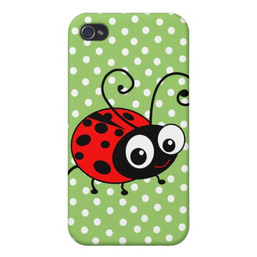 Cute Ladybug iPhone 4/4S Cover