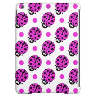 Cute Ladybug, Neon Purple & White Polka Dots iPad Air Covers