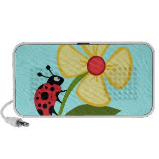 Cute Ladybug on a Yellow Flower Travelling Speaker