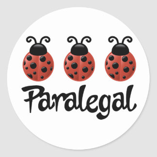 Cute Ladybug Paralegal Gift Classic Round Sticker