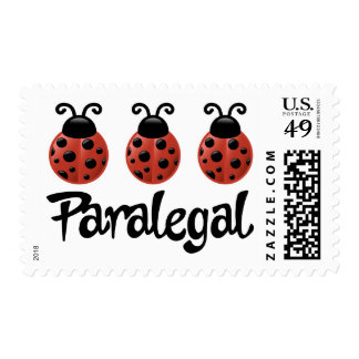 Cute Ladybug Paralegal Gift Stamps