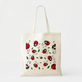 Cute ladybug pattern budget tote bag