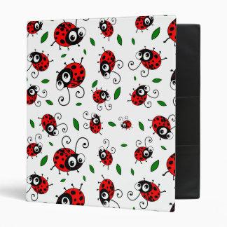 Cute ladybug pattern binder