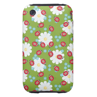 Cute Ladybug Pattern Tough iPhone 3 Covers