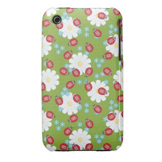 Cute Ladybug Pattern iPhone 3 Cases