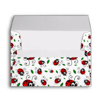 Cute ladybug pattern envelope
