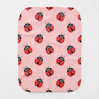 Cute Ladybug Pattern for Sweet Baby Girls Burp Cloth