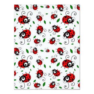 Cute ladybug pattern personalized invitation