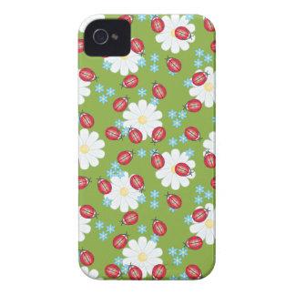 Cute Ladybug Pattern iPhone 4 Case