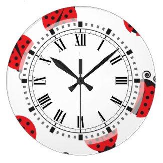 Cute Ladybug Pattern Large unique Clock