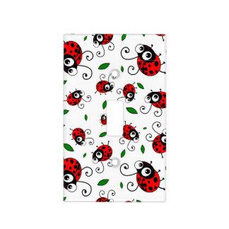 Cute ladybug pattern light switch plate