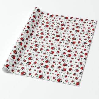 Cute ladybug pattern wrapping paper