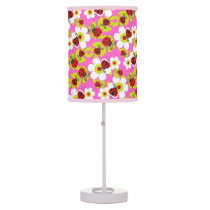 Cute ladybug patterned kids girls graphic lamp