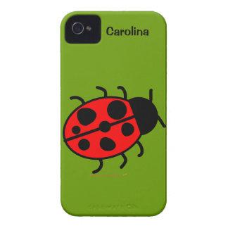 Cute Ladybug Personalized Custom Name Cover iPhone 4 Case