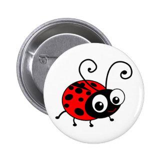Cute Ladybug Pinback Button