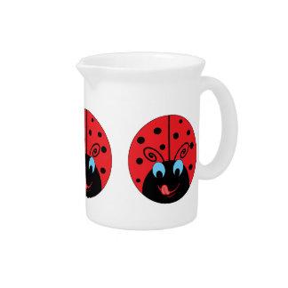 Cute Ladybug Beverage Pitchers