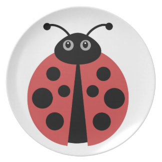 Cute Ladybug Plate