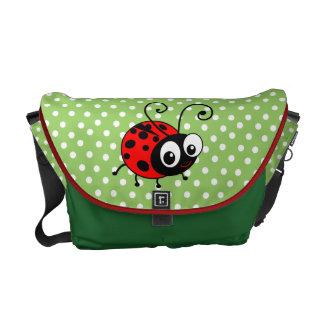 Cute ladybug polka dot bug messenger bag
