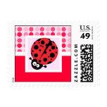 Cute Ladybug Postage Stamp