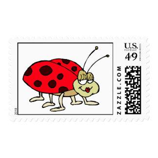 Cute Ladybug Postage Stamps