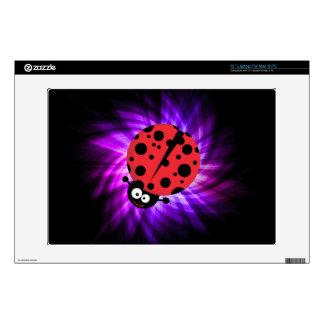 "Cute Ladybug; Purple 13"" Laptop Skin"