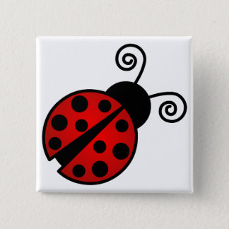 Cute Ladybug - Red and Black Button