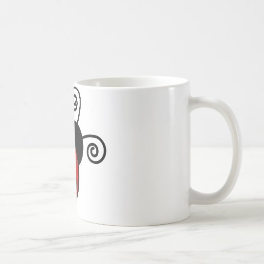 Cute Ladybug - Red and Black Coffee Mug