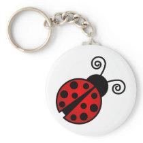 Cute Ladybug - Red and Black Keychain