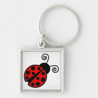 Cute Ladybug - Red and Black Keychain