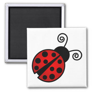 Cute Ladybug - Red and Black Magnet