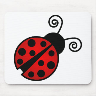 Cute Ladybug - Red and Black Mouse Pad