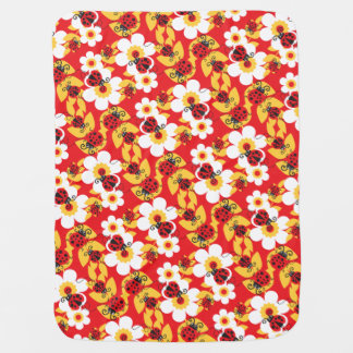 Cute ladybug red patterned baby blanket