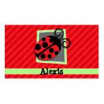 Cute Ladybug; Scarlet Red Stripes Business Card