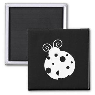 Cute Ladybug Silhouette Magnet