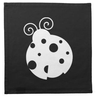 Cute Ladybug Silhouette Printed Napkin