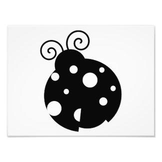 Cute Ladybug Silhouette Photo