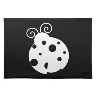 Cute Ladybug Silhouette Placemats